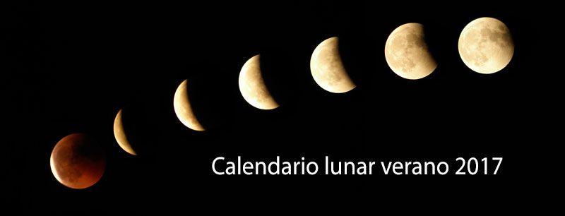Calendario lunar en verano