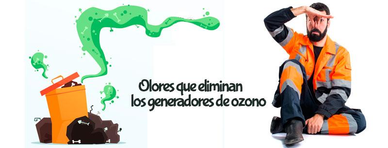 que olores eliminan los generadores de ozono