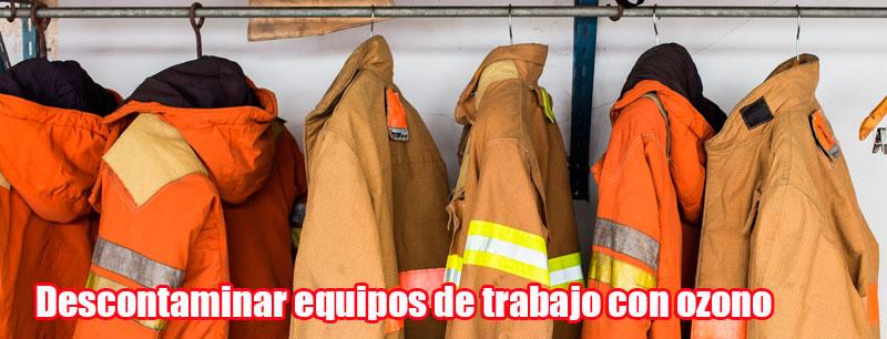 Descontaminar equipos de trabajo con ozono
