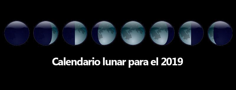 calendario lunar para el 2019